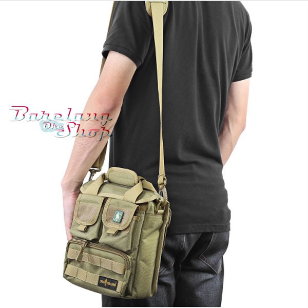Mens Small Tactical Shooting Military Army Messenger Shoulder Paracord Bag Green