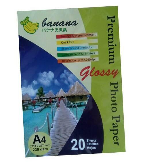 Foto Produk Kertas Foto Glossy Merk Banana dari Kreatifitas-Keterampilan