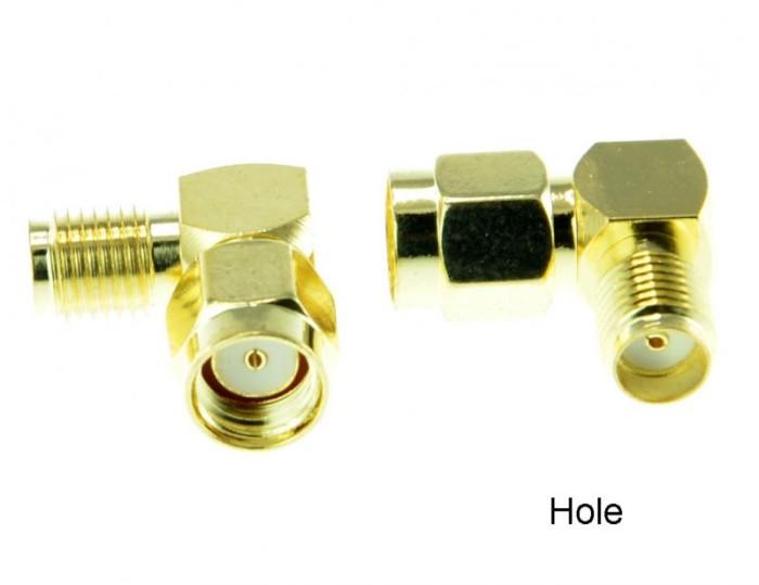 Foto Produk Antenna converter RPSMA-SMA (lubang) 90 degree connector dari DooFPV