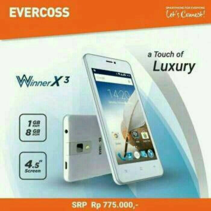 harga Evercoss a65b winner x3 4.5inch quadcore ram 1gb Tokopedia.com