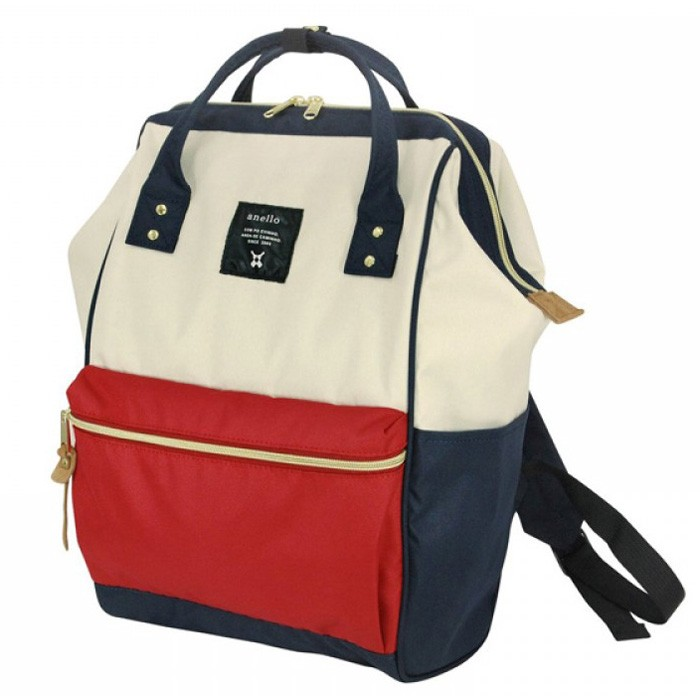 Foto Produk Tas Ransel Anello Handle Oxford Cloth Backpack L Size - White/Red dari JN Holic