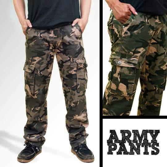 harga Celana pdl kargo loreng army + gratiss ikat pinggang Tokopedia.com