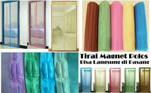 Tirai pintu magnet anti nyamuk serangga magic mesh ...