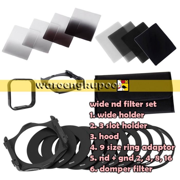 Foto Produk 8 Filter Kotak Square Nd Gnd + 2 Holder + Hood + 9 Ring Setipe Cokin P dari waroengkupoo