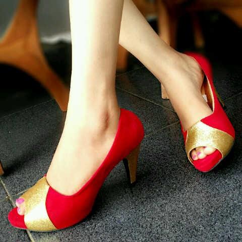 harga Spt nd 03 s heels wanita bludru kode nd03 s beludru wedges pantovel Tokopedia.com