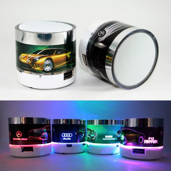harga Mini bluetooth speaker sport car glowing | usb / micro sd speaker Tokopedia.com
