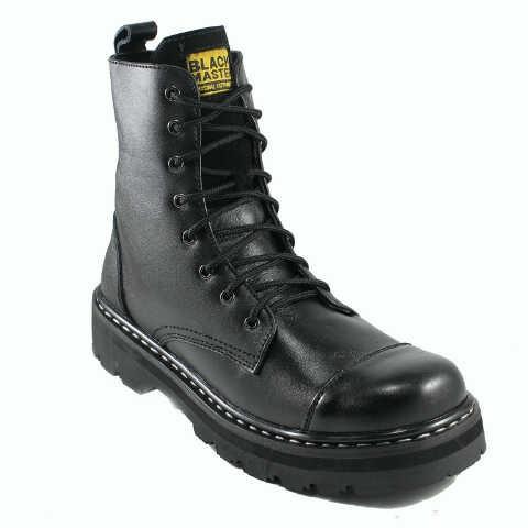 Jual Sepatu BlackMaster Kulit Boots Ujung Besi Pria Original ... f367a21cf1