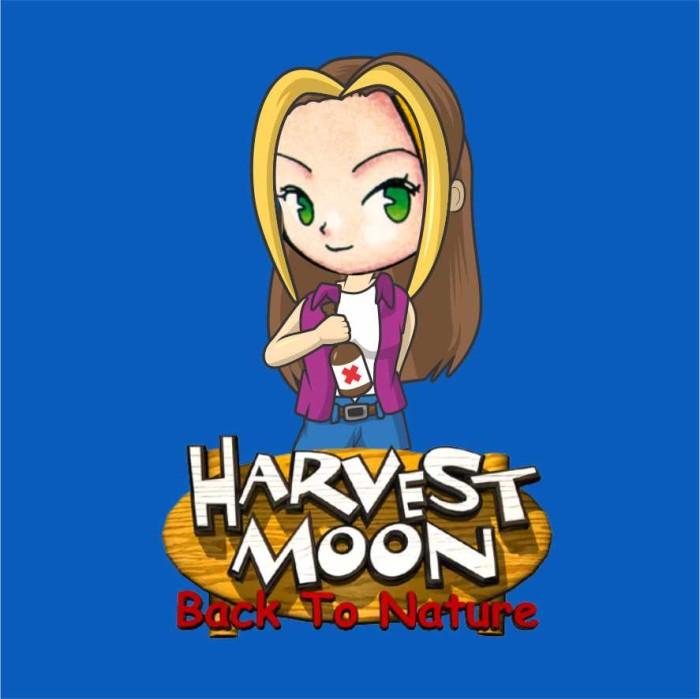 Jual Kaos Harvest Moon back to Nature karakter KAREN (Warna Biru Turkis) -  Kota Surakarta - Nostalgia Merchandise | Tokopedia