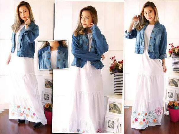Maxi Dress with Cardi Jeans ARETHA