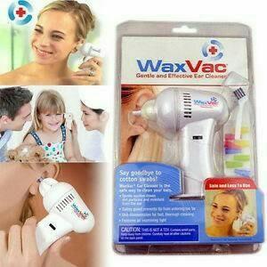 Electric Ear Wax Vacuum Vac Wax Removal / Pembersih Telinga