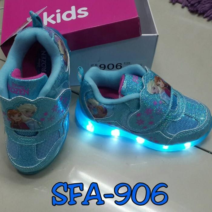 harga Sepatu frozen lampu anak kets import bagus elsa anna frozen sfa - 906 Tokopedia.com