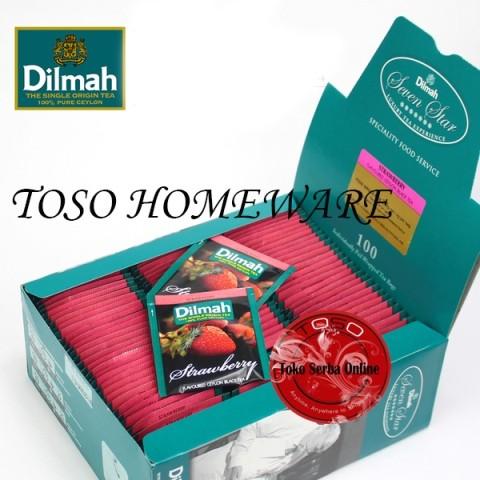harga Teh dilmah tea 100 sachet strawberry tea teh celup Tokopedia.com