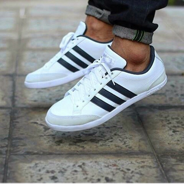 brand new d3465 63919 ADIDAS NEO CAFLAIRE   WHITE WHITE BLACK