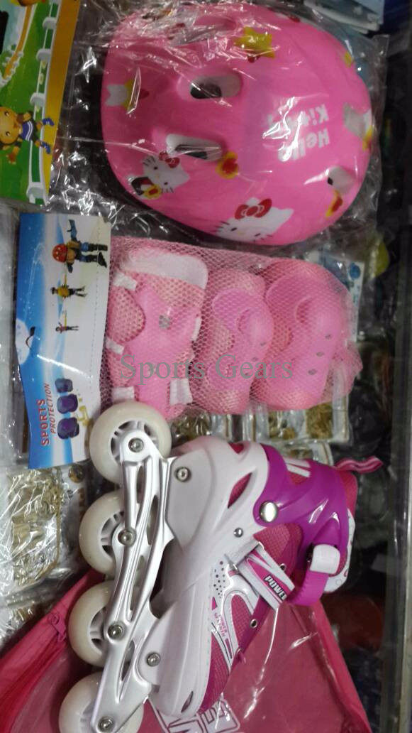 Jual sepatu roda  inline skate PINK JAHIT PAKET HELM DAN DEKKER BD9U ... 3a9cf26b50