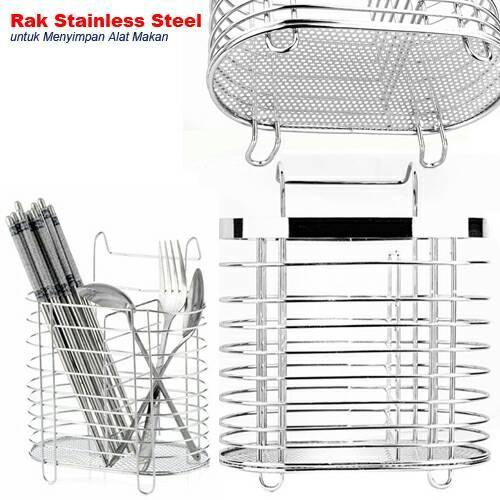 Rak Sendok Stainless Gantung | Rak Stainless Kitchen Set Alat Dapur .