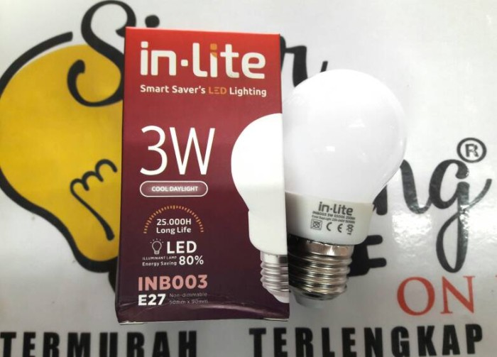 Philips Lampu Led 18w 2000 Lumen Cool Daylight Putih Terang 3pcs Source · Lampu LED 3w In Lite Bohlam Led 3w Bulb 3w setara Philips LED 3w