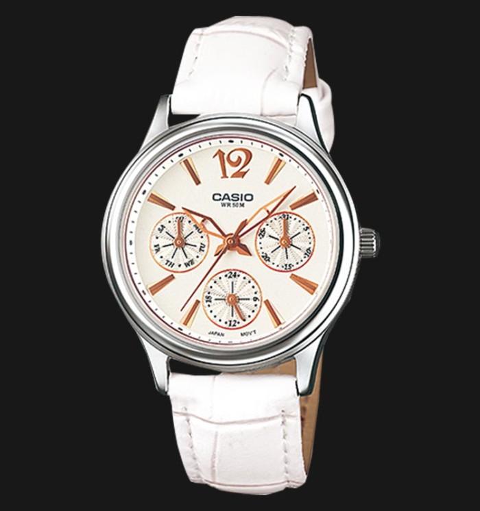 ... harga Jam tangan casio wanita kulit putih leather ltp2085l-7 ori  garansi Tokopedia.com 36e6b6b4e6