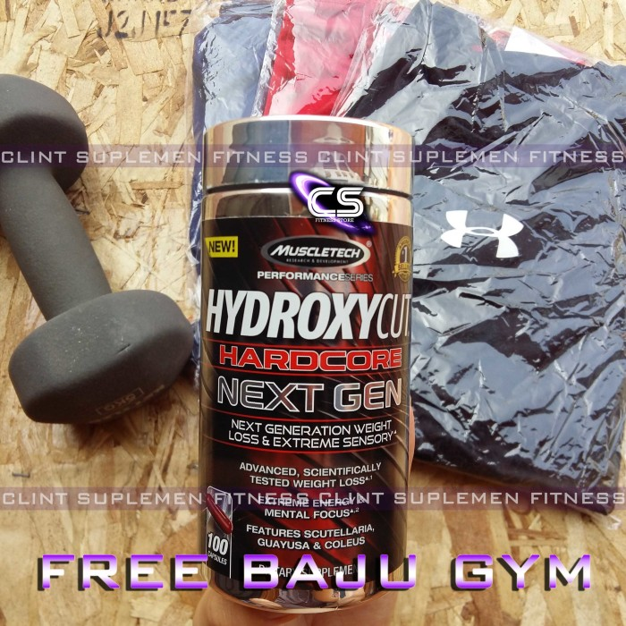 harga New edition muscletech: hydroxycut hardcore next gen free kaos gym Tokopedia.com