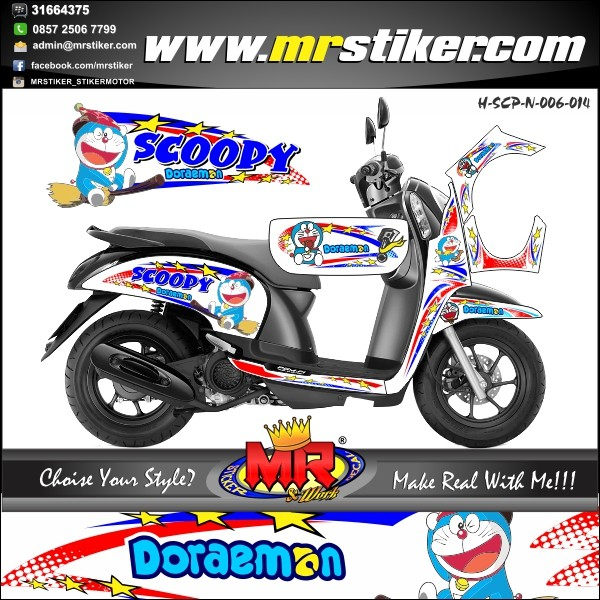Jual Stiker Motor Scoopy Kab Klaten Mr Stiker Tokopedia