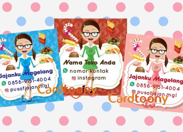 Jual Sticker Stiker Label Nama Produk Toko Snack Cemilan Makanan