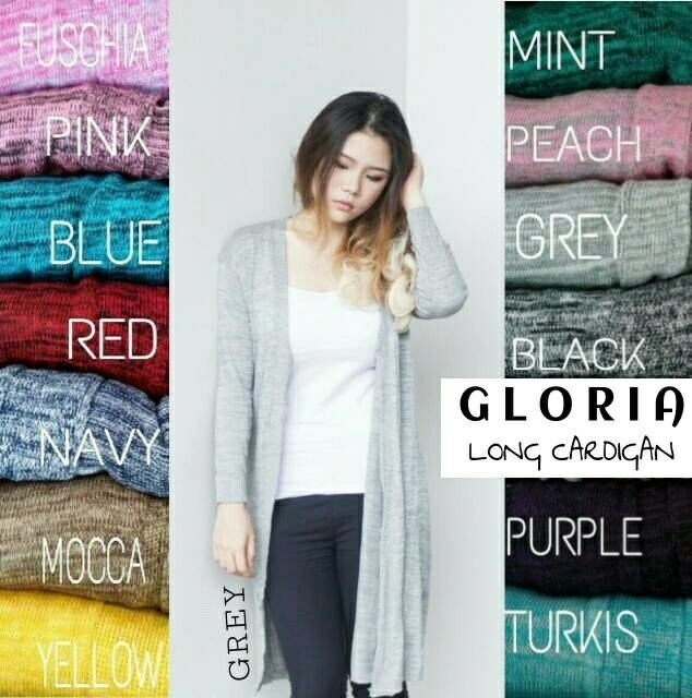 harga Gloria long cardigan rajut panjang 1261 Tokopedia.com