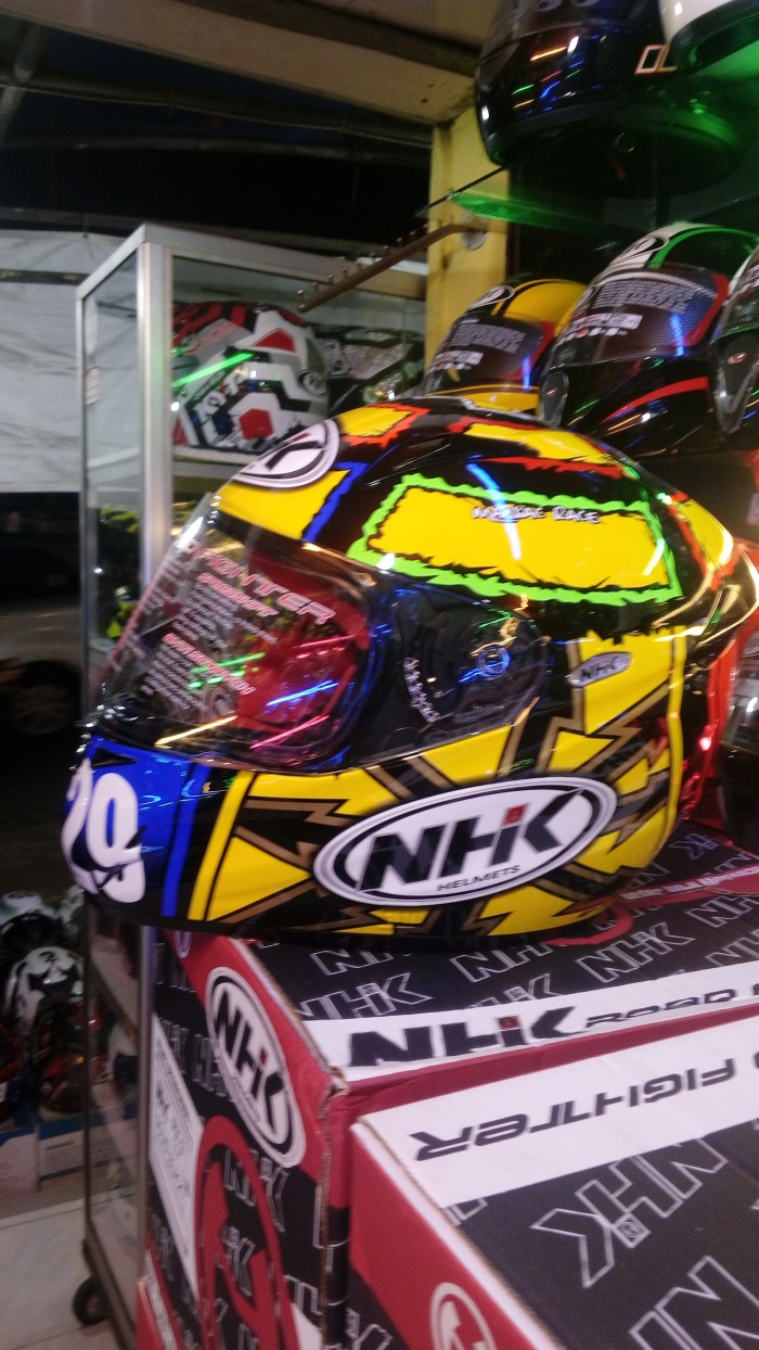 harga Helm nhk gp tech gptech fullface blue yellow fluo full maniac race Tokopedia.com