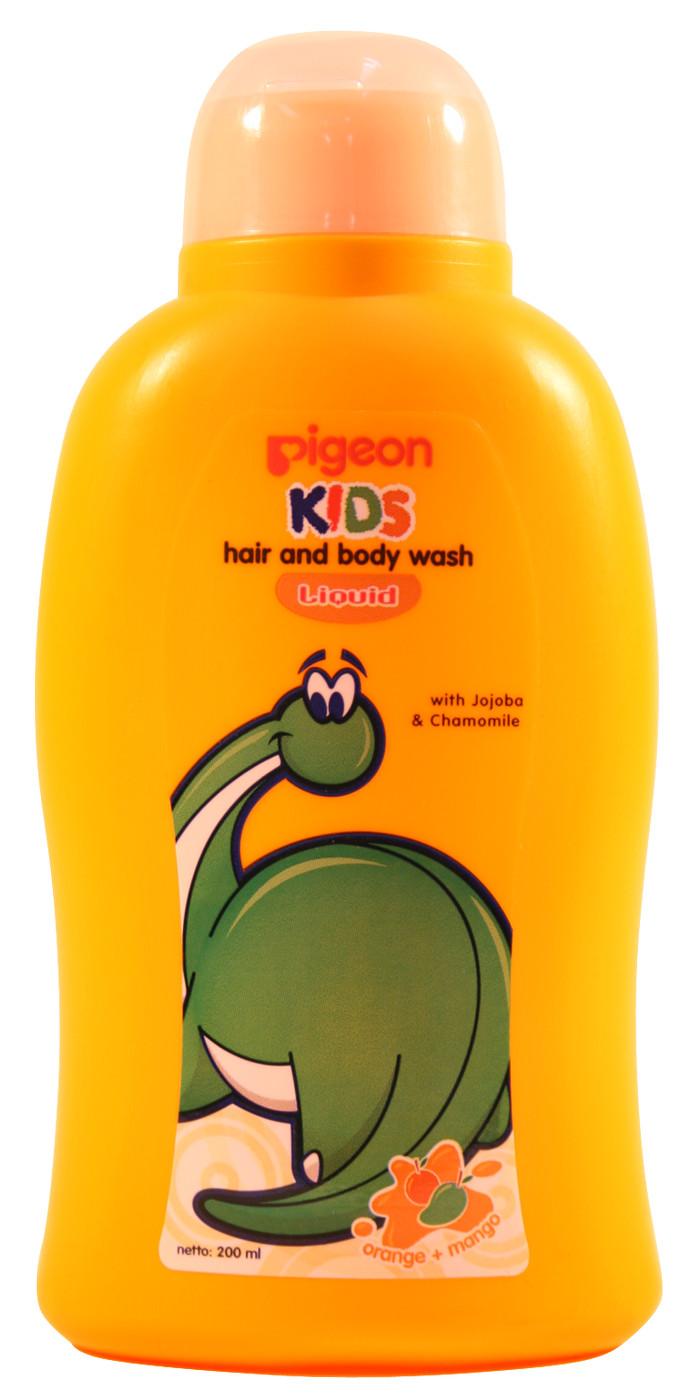 Pigeon Kids Hair Body Wash Foam Orange Manggo 350ml Refill Kewpie Baby Foaming Shampoo 300ml 200ml Liq Mango 05000134