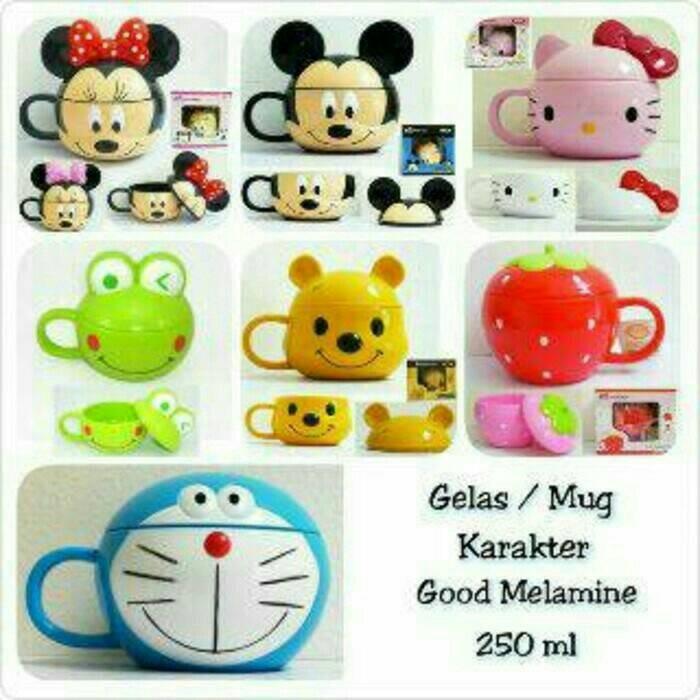 harga Mug Gelas Karakter (hello Kitty,mickey,minnie,doraemon,keroppi,pooh) Tokopedia.com