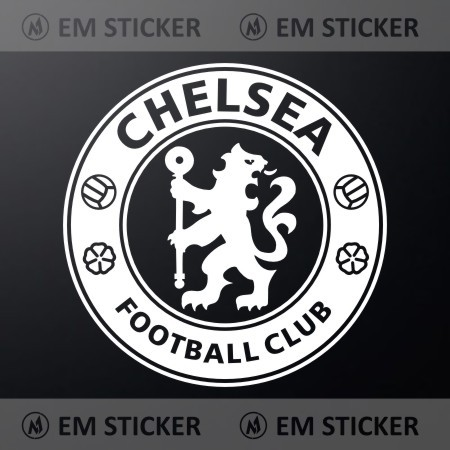 Stiker logo chelsea cutting sticker