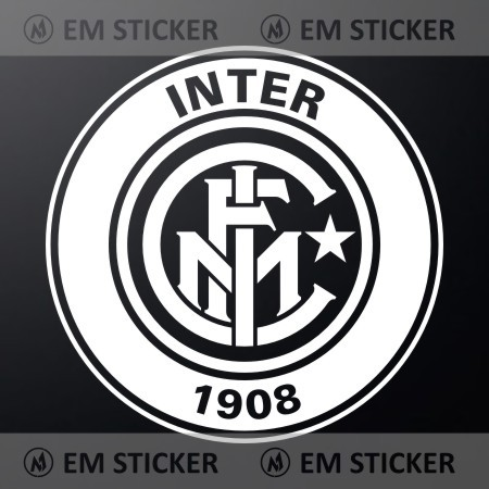 Stiker logo inter milan white cutting sticker kaca mobil