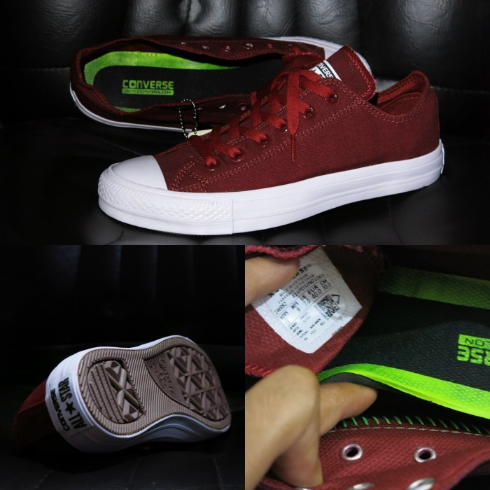 6f6b1061ab18 Jual Sepatu Converse Chuck Taylor II Komponen Ori   Merah Maroon ...