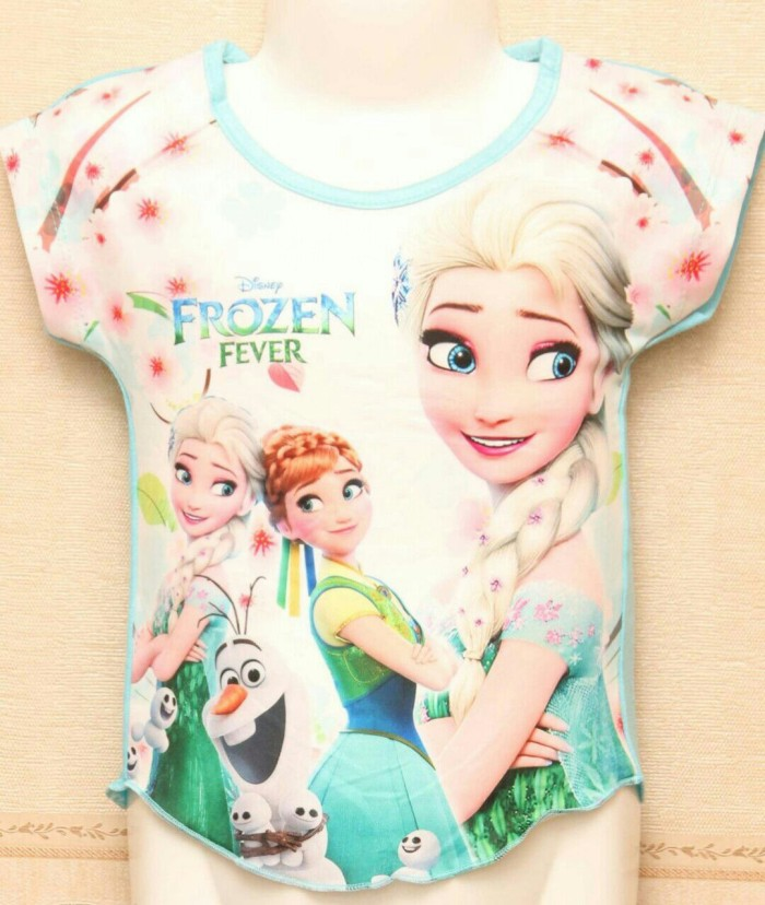 harga Cb14 Frozen 3510 Kaos Baby Bayi Anak Perempuan Printing Murah Kado Tokopedia.com