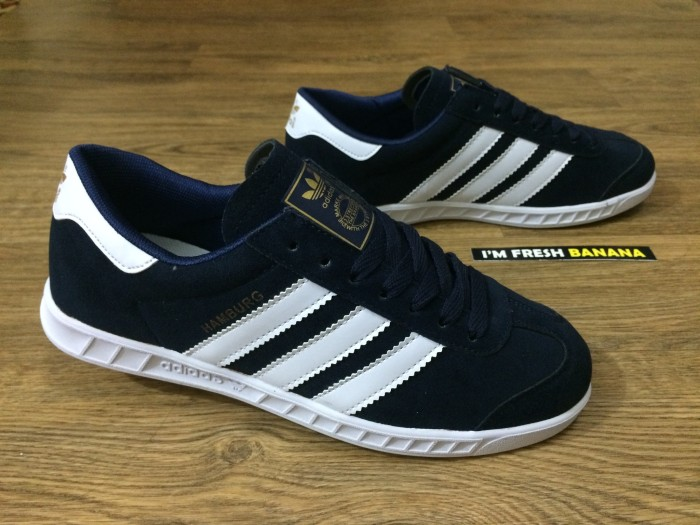 40c7dd39d7e45a Jual Sepatu Adidas Casual Casuals Hamburg Classic Skate Navy Blue ...