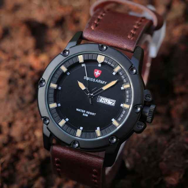 harga Swiss army kulit jam tangan sport man/pria tanggal hari aktif leather Tokopedia.com