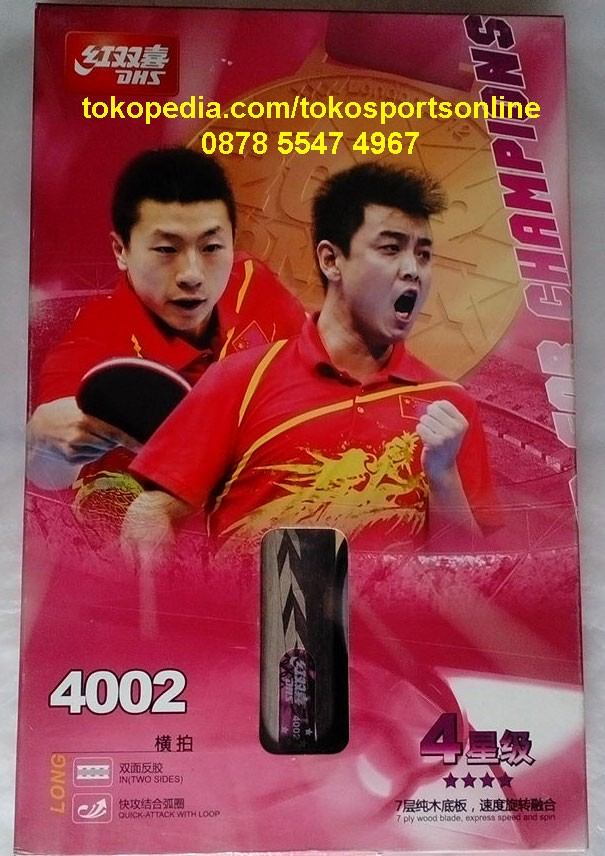 Bat Bet Ping Pong Tenis Meja DHS Double Happiness 4002