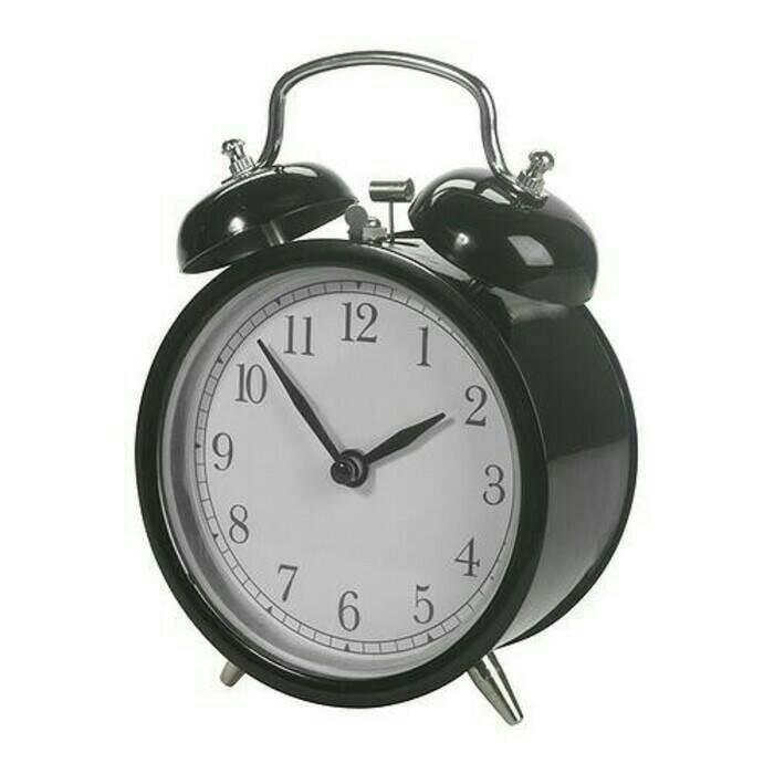 Ikea dekad jam beker warna hitam