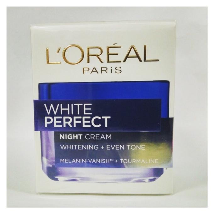 harga L'oreal white perfect - night cream Tokopedia.com