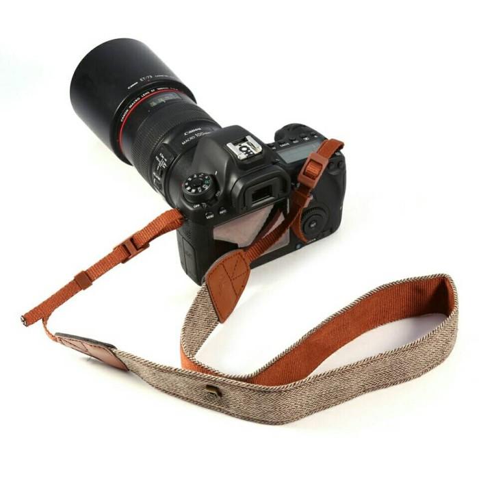 Foto Produk Strap kamera Canvas kuat dan lembut warna BROWN dari Gerai Digital