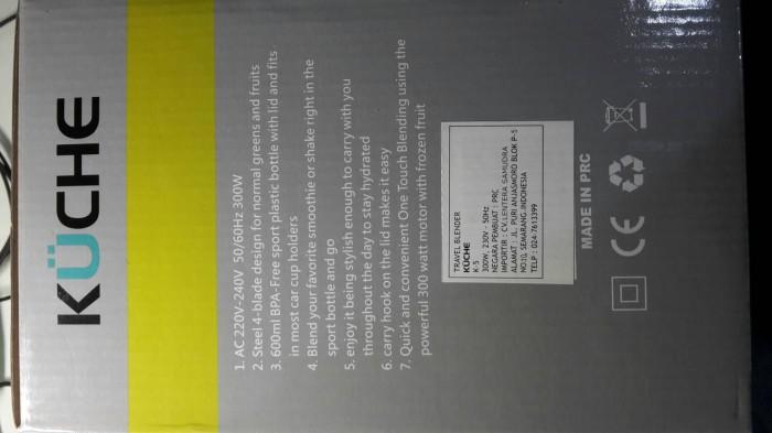 Jual Kuche Travel Blender K 5 Dx Tronics Tokopedia
