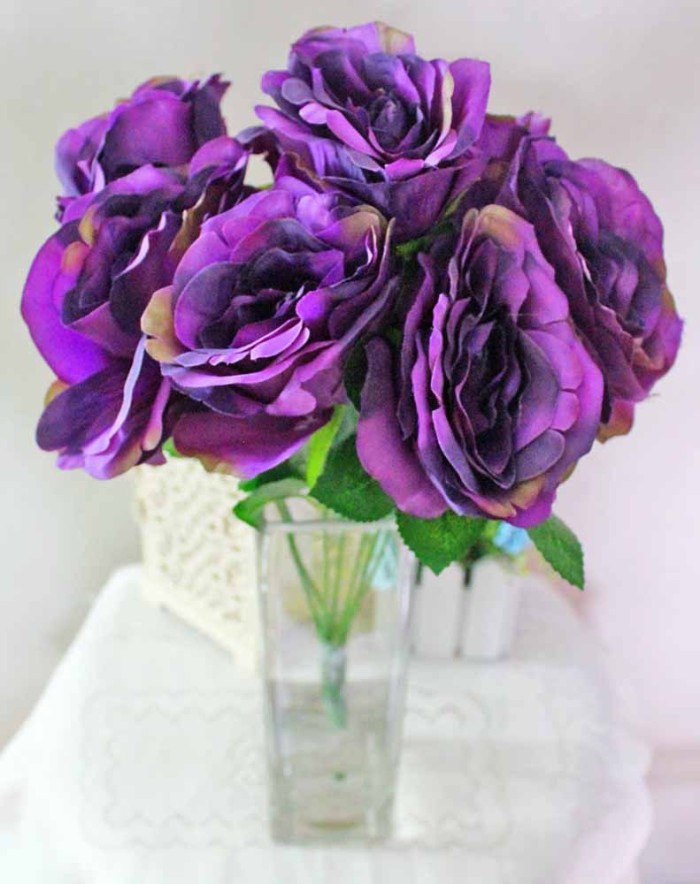 Jual Bunga Plastik Hias Artificial Rose Mawar Telur Shabby Premium B 718d0dab8a