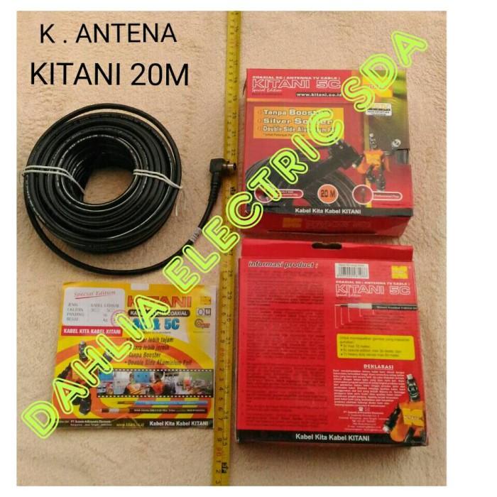harga Kabel antena tv coaxial 5c kitani 20m Tokopedia.com