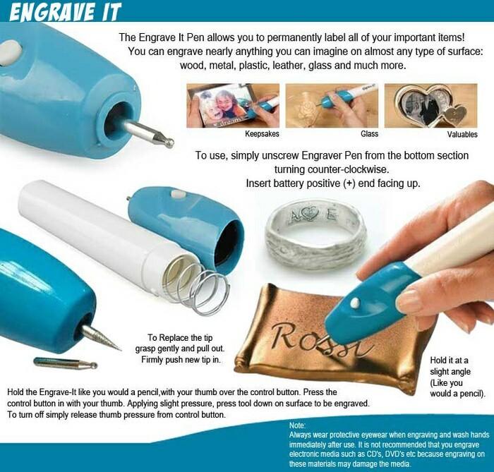 Engrave it Pen Alat Ukir Elektrik Mengukir kayu logam plastik kaca