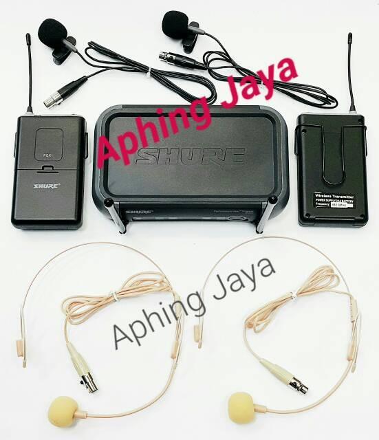 harga Microphone wireless shure pgx-242 (clip on + headset) Tokopedia.com