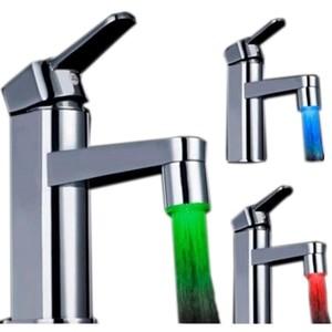 Foto Produk lucu LED Keran Air 3 Colors Water Faucet Changing Temperatur 2017 L dari toko santy