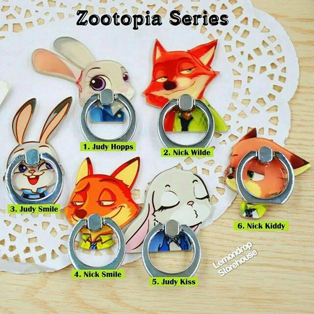 harga Iring stand ring stent holder zootopia / penyangga cincin hp judy nick Tokopedia.com