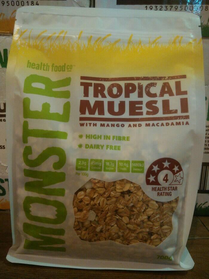 harga Monster tropical muesli with mango and macadamia Tokopedia.com