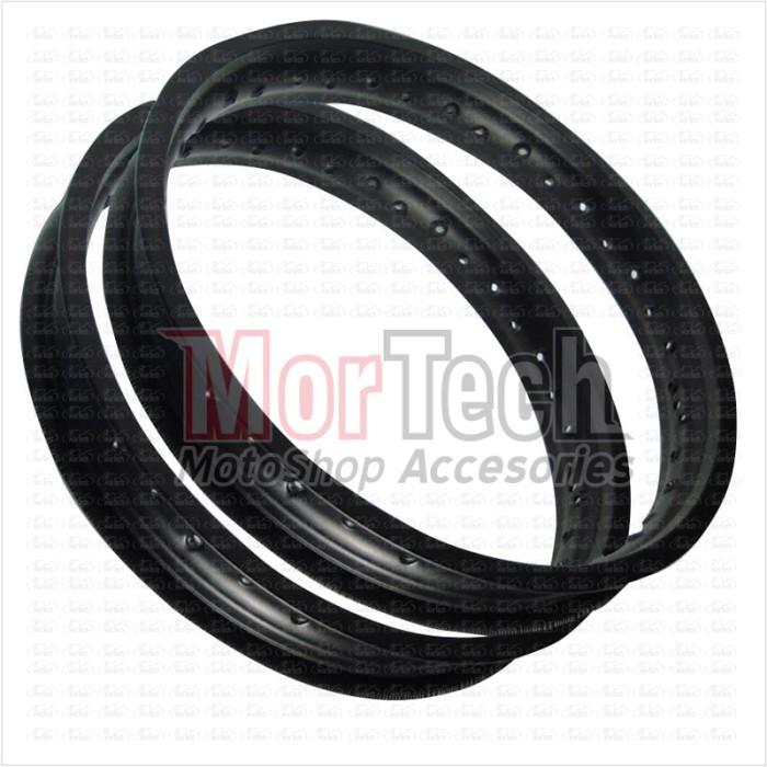 harga Paket velg pelek rim ring jari 17-215 & 17-250 rossi hitam 36 hole Tokopedia.com