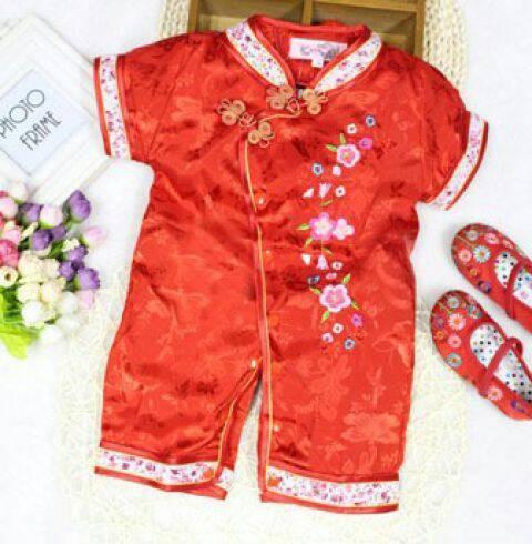harga Romper cheongsam - baju imlek - romper qipao girl red rose Tokopedia.com