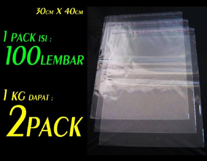 harga Plastik kemasan baju/jaket/celana/jilbab opp perekat packing olshop Tokopedia.com