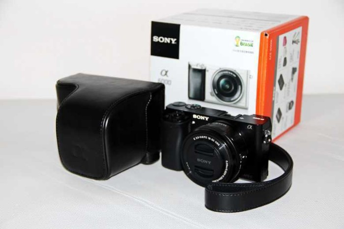 harga Leather camera bag cover for sony a6000 full body set case Tokopedia.com